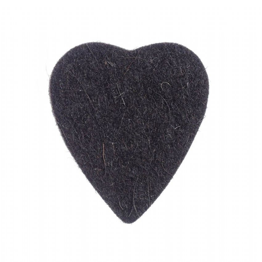Felt Tones Heart - Black - 1 Ukulele Pick | Timber Tones